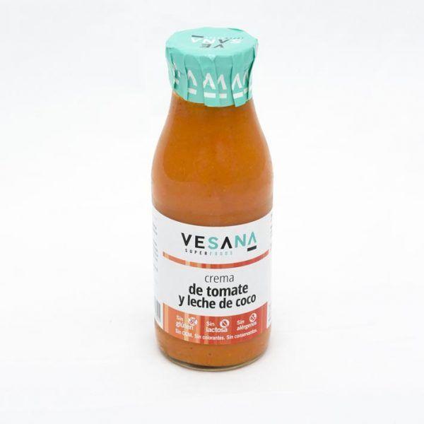 Crema de tomate y leche de coco VESANA