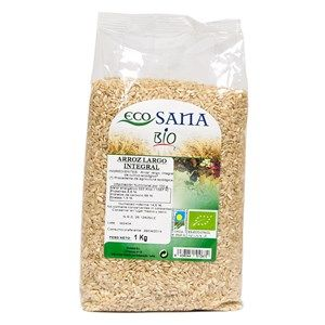 Arroz largo integral bio 1kg, Ecosana