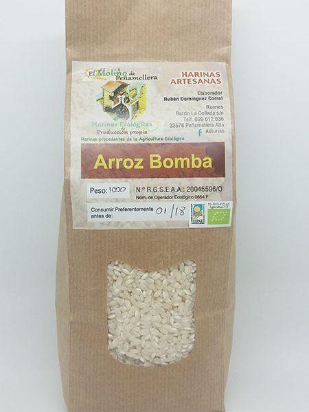 Arroz Bomba 1kg, El Molino de Peñamellera.