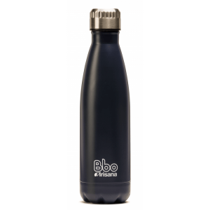Botella reutilizable 500 ml. de acero inoxidable con funda de neopreno, Bbo Irisana.