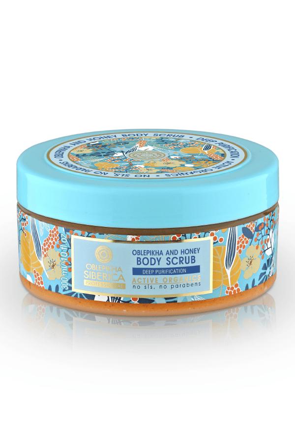 Peeling corporal exfoliante y miel 300 ml, Oblepikha