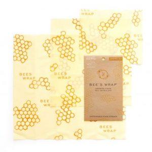 Envoltorio de cera de abeja surtido 3uds, modelo panal Bee´s Wrap