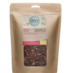 Granola de cacao y frambuesa, Trinca