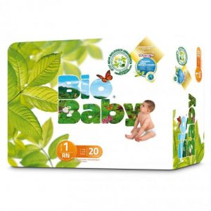 Pañales desechables T1 (3-6kg) 20 uds, Bio baby
