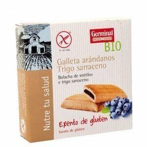 Galletas sin gluten de trigo sarraceno con arándanos 200g, Germinal