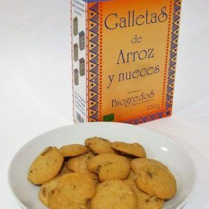 Galletas de arroz y nueces 200g sin gluten, Biogredos