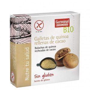 Galletas sin gluten de quínoa rellenas de cacao 200g, Germinal