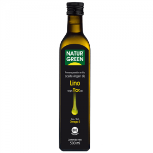 Aceite Lino Bio 500 ml, NaturGreen