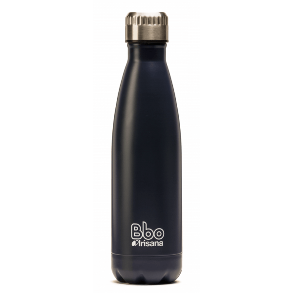 Botella reutilizable 500 ml. de acero inoxidable con funda de neopreno, Bbo Irisana.