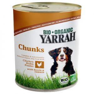 Trocitos de pollo en lata para perros 800 g bio, Yarrah