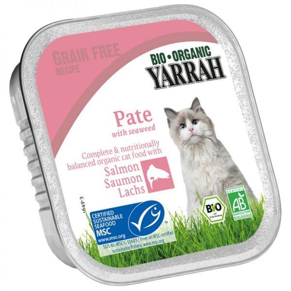 Tarrina de paté de salmón para gatos, Yarrah