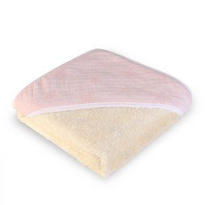 Capa de baño con capucha de estrellitas rosas