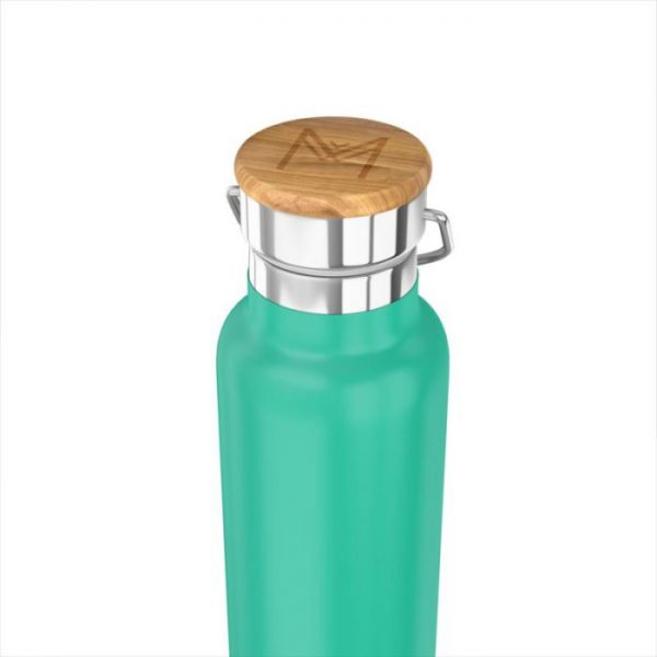 Botella termo inoxidable, verde