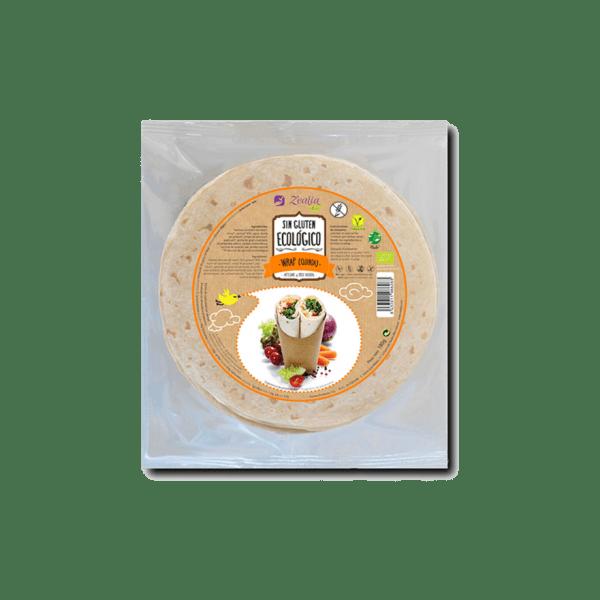 Wrap de quinoa sin gluten ecológico, Zealia