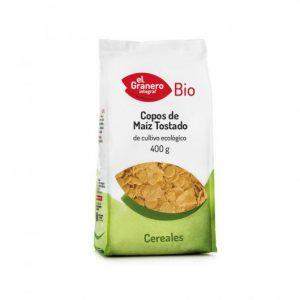 Copos de maíz tostado bio El Granero 400g