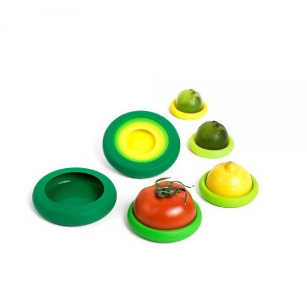 Juego 5 tapas de silicona Fresh Greens - Food Huggers