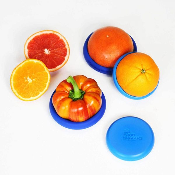 Juego 4 tapas de silicona grandes - Food Huggers
