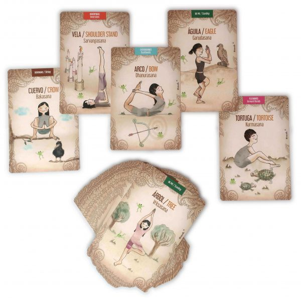 Nanaki, Juego de cartas de yoga para niños