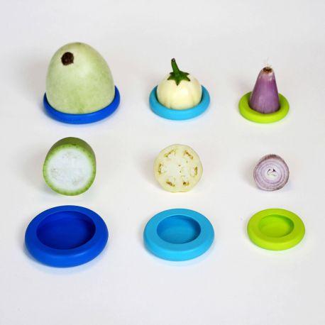 Juego 6 tapas de silicona pequeñas - Food Huggers