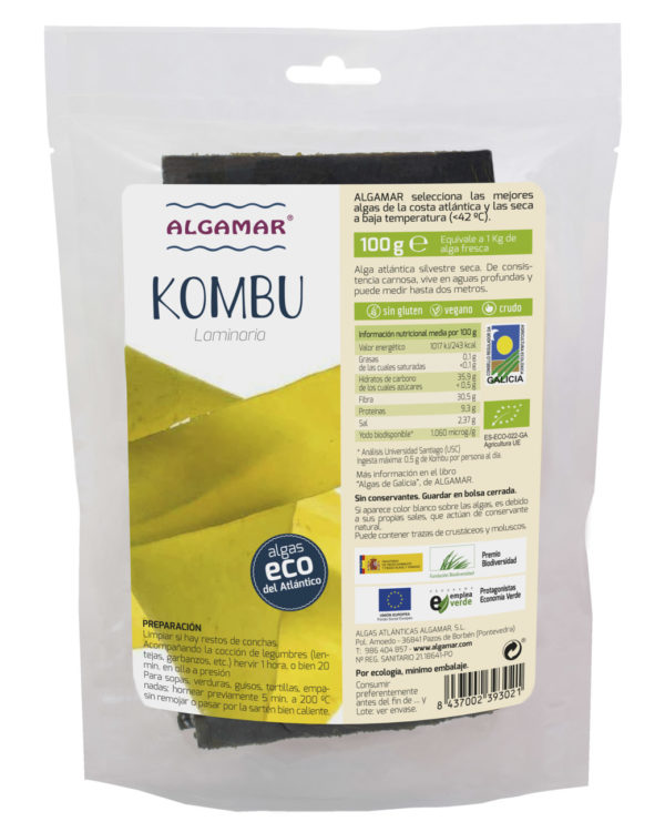 Alga kombu (laminaria), Algamar