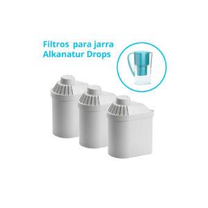 Pack 3 filtros Alkanatur Drops (1200 litros)