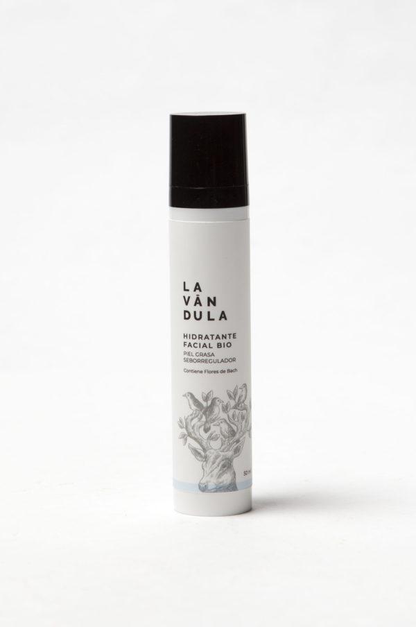 Crema hidratante facial Bio piel grasa seborregulador, Lavándula