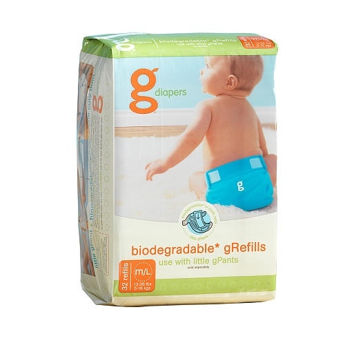 Absorbentes desechables Biodegradables gRefills gNappies