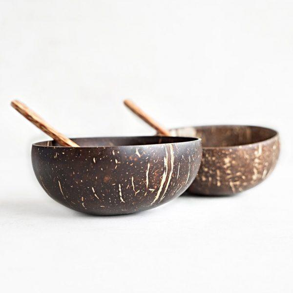 Cuenco de cáscara natural de coco