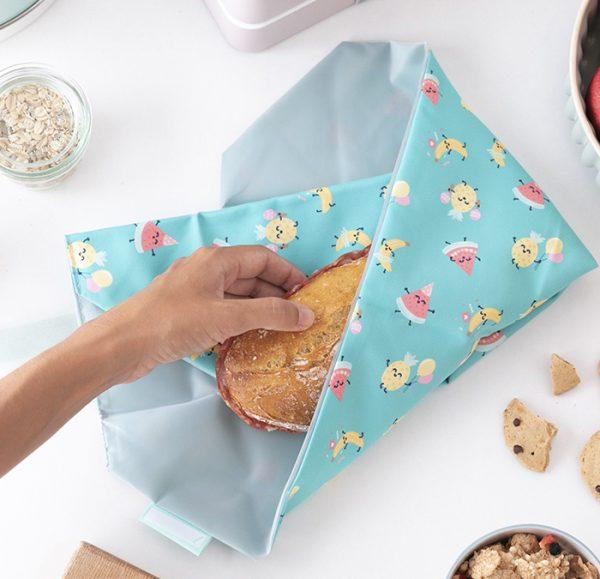 Porta bocadillos reutilizable Frutitas, Roll eat