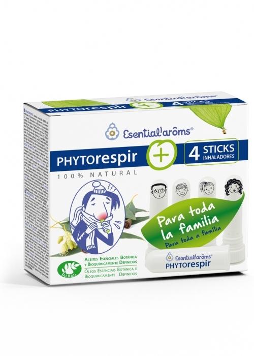 Phytorespir, 4 sticks inhaladores, Esential Aroms