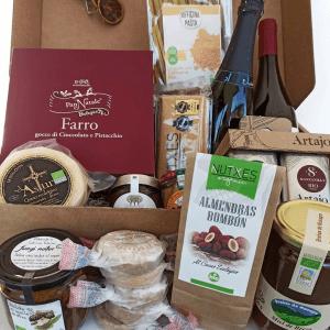 cestas de navidad conscientes rellenas de alimentación ecológica