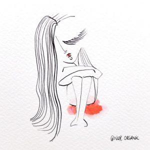 ciclo menstrual fase menstrual ilustración de Nur.Organic