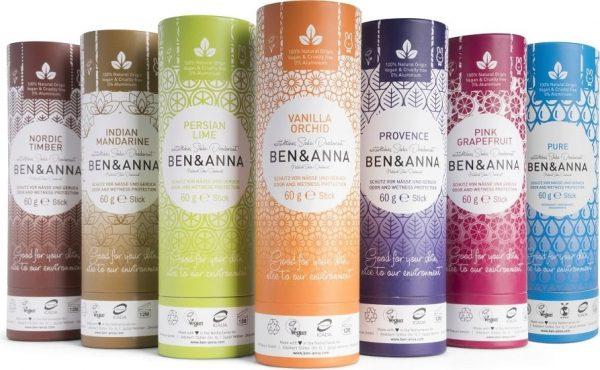 Desodorante natural con envase de cartón, Ben&Anna