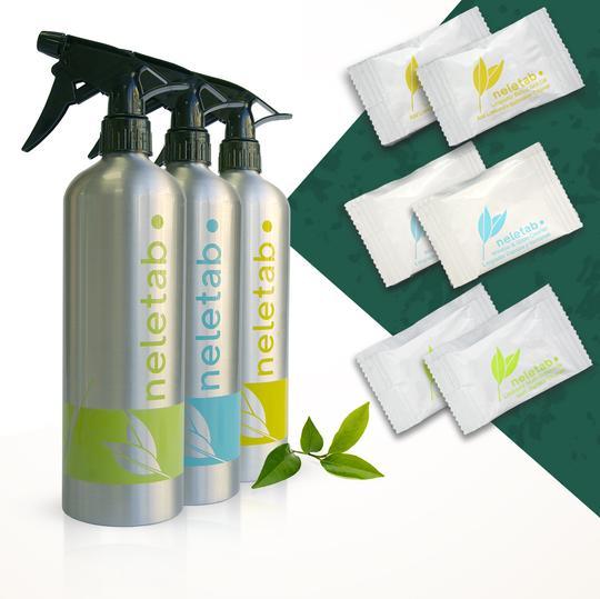 Pack de limpieza sostenible NeletabPack de limpieza sostenible Neletab