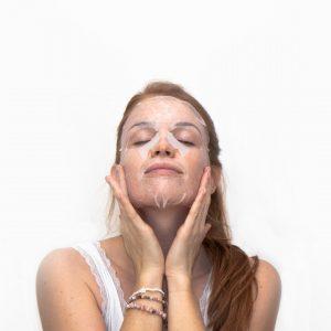 Mascarilla facial de algodón bio Esential Aroms