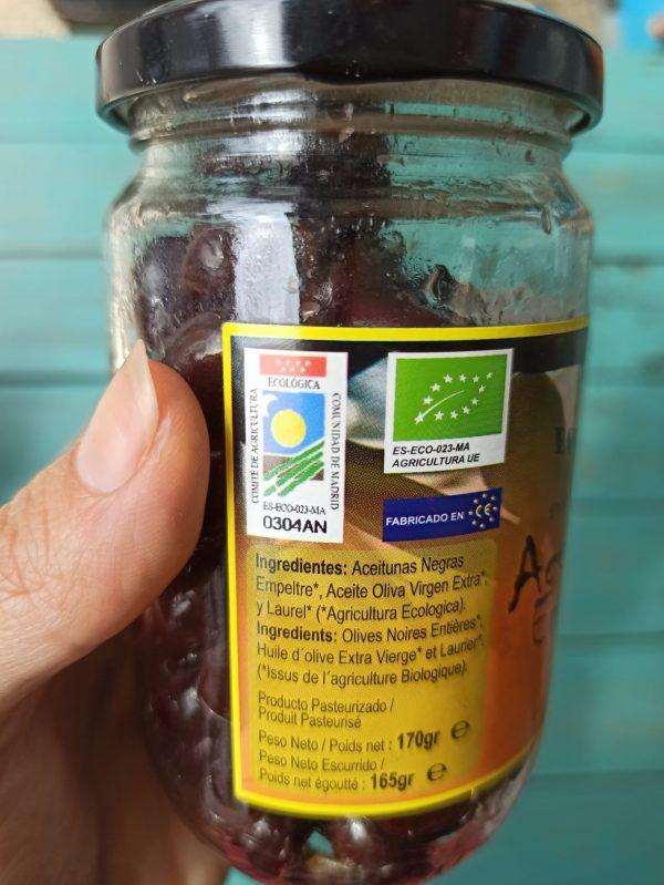 aceitunas negras ingredientes