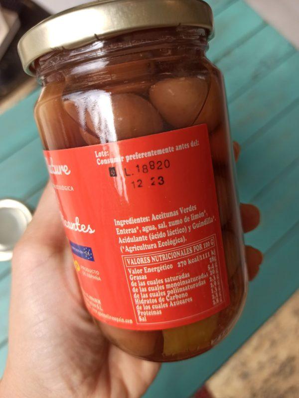 aceitunas picantes ingredientes